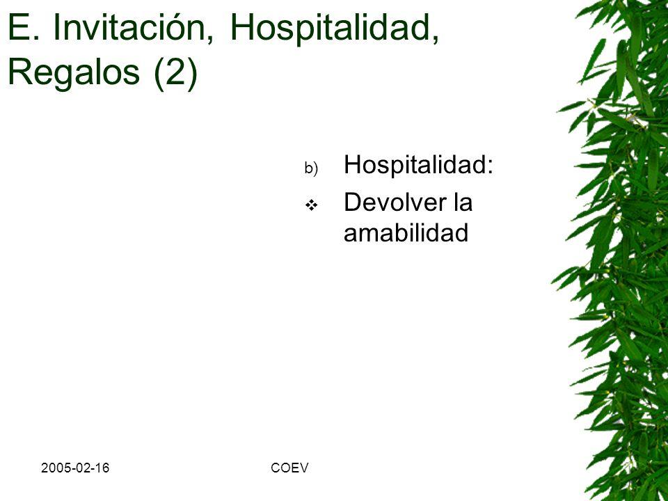 E. Invitación, Hospitalidad, Regalos (2)
