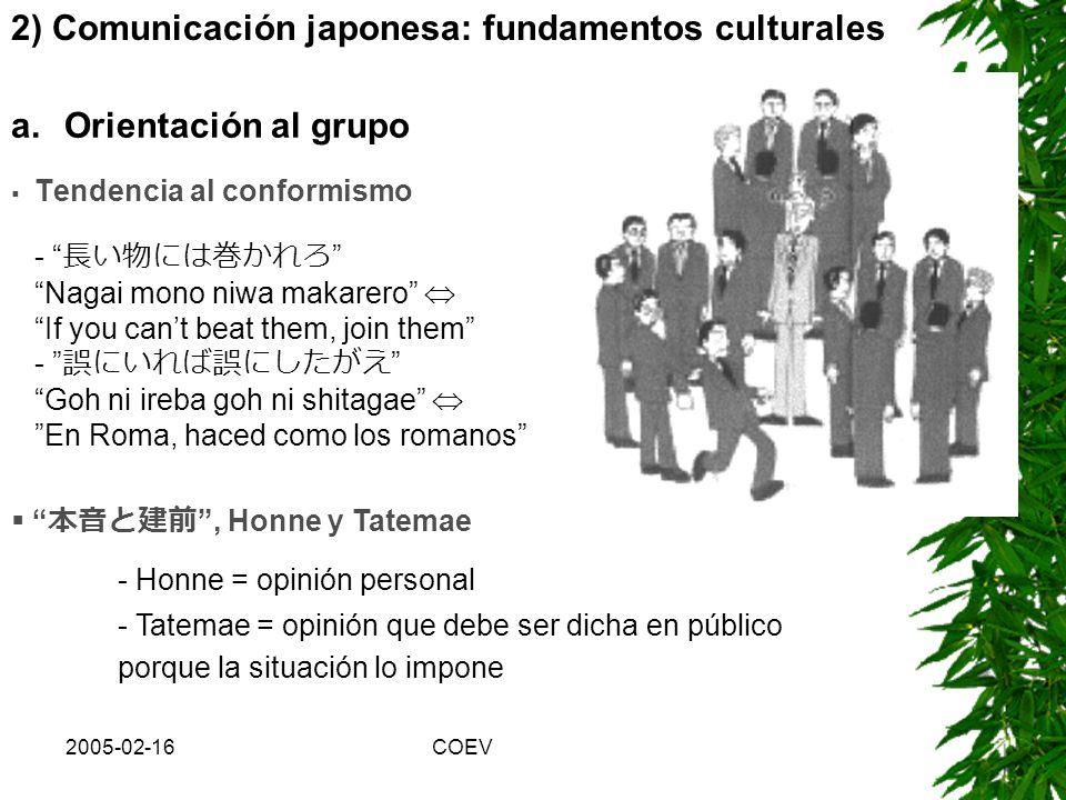 2) Comunicación japonesa: fundamentos culturales
