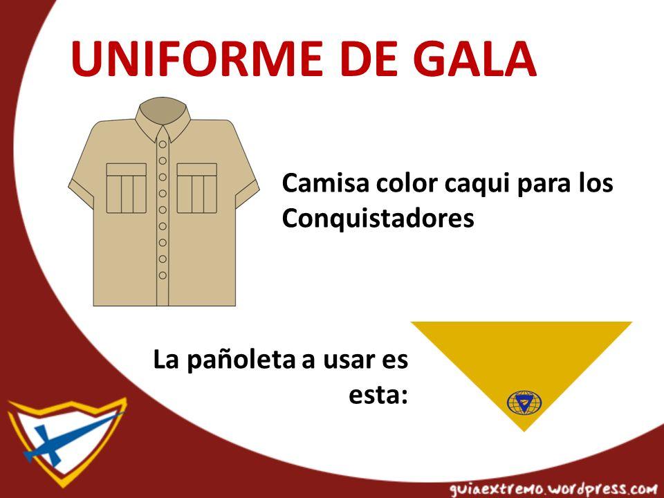 UNIFORME DE GALA Camisa color caqui para los Conquistadores