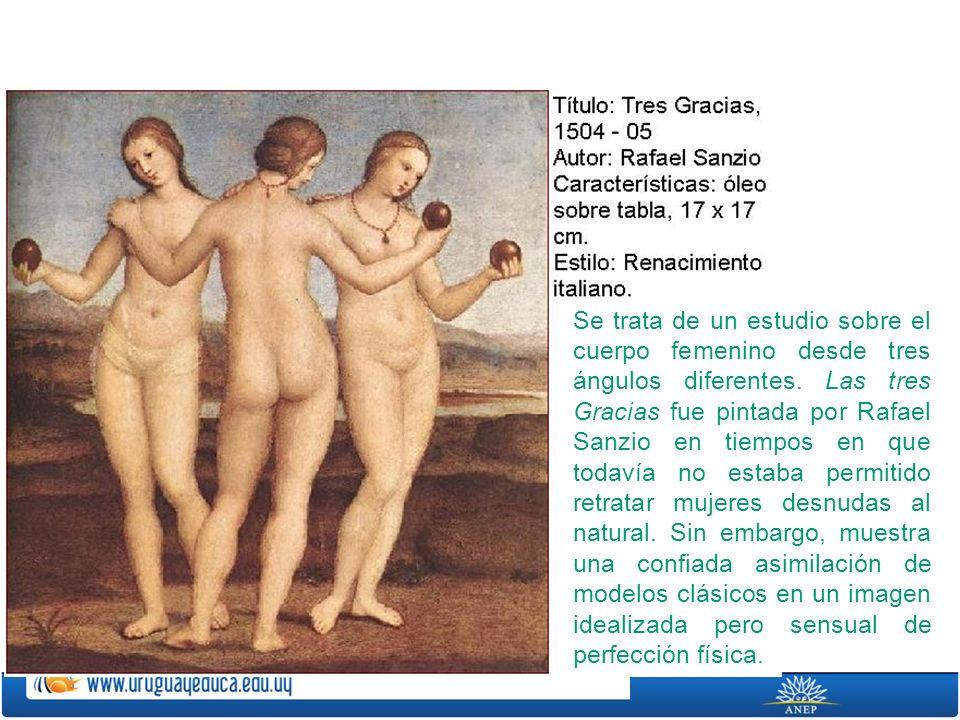 Se trata de un estudio sobre el cuerpo femenino desde tres ángulos diferentes.