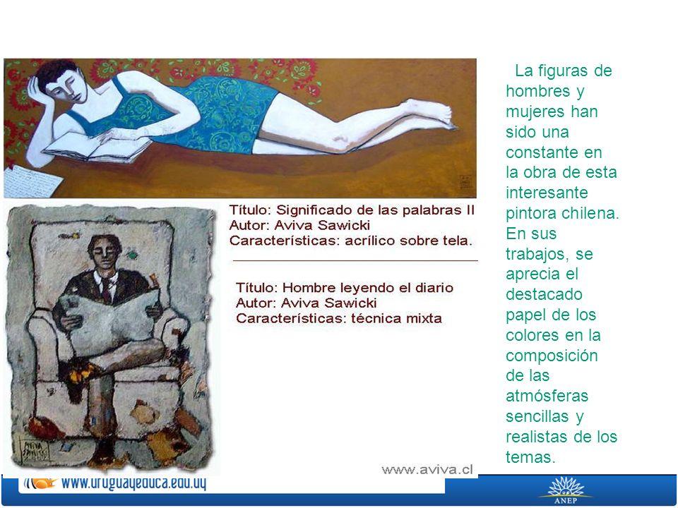 La figuras de hombres y mujeres han sido una constante en la obra de esta interesante pintora chilena.