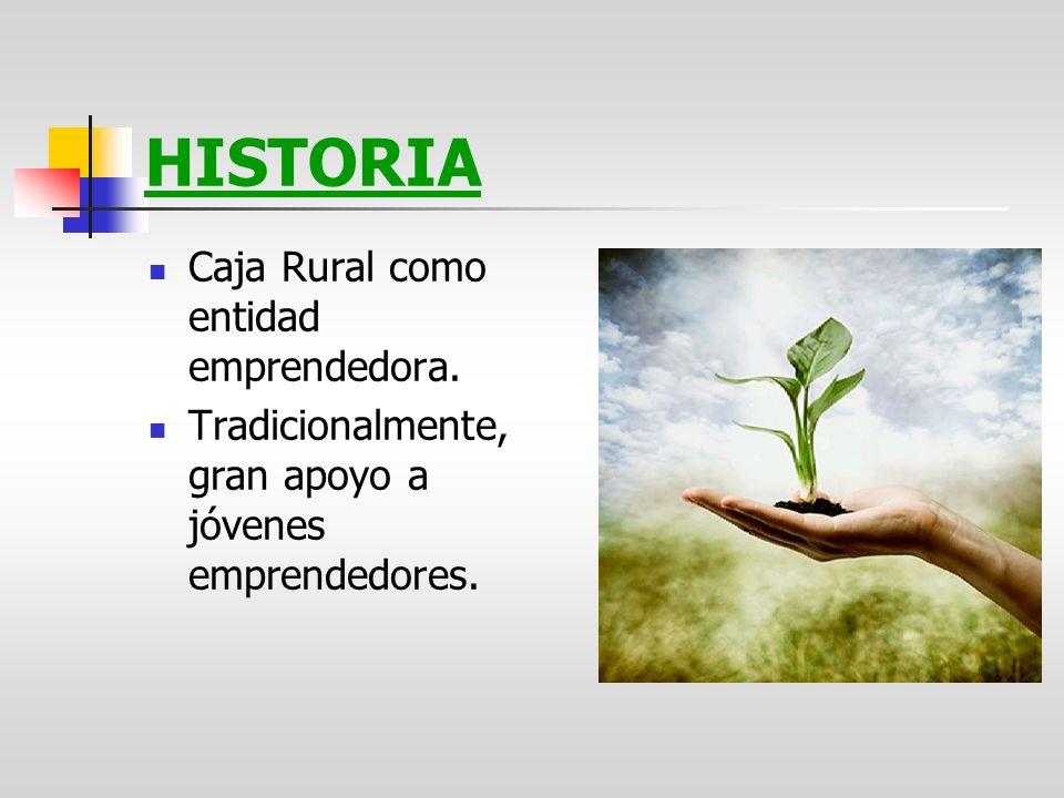 HISTORIA Caja Rural como entidad emprendedora.