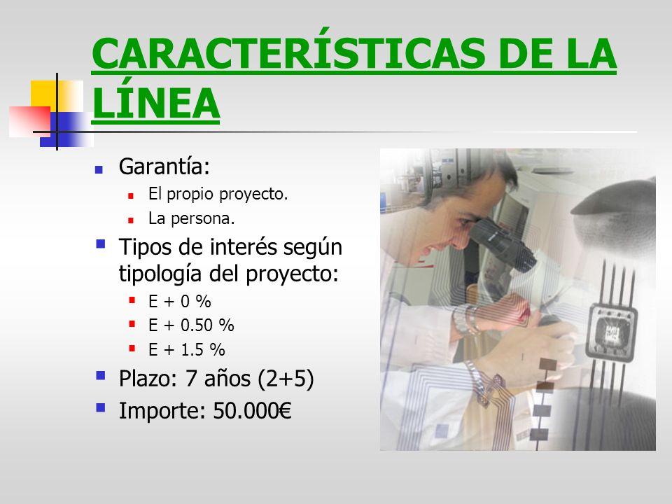 CARACTERÍSTICAS DE LA LÍNEA
