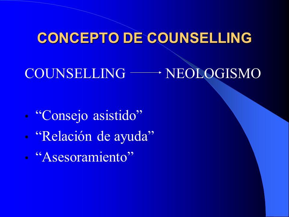 CONCEPTO DE COUNSELLING