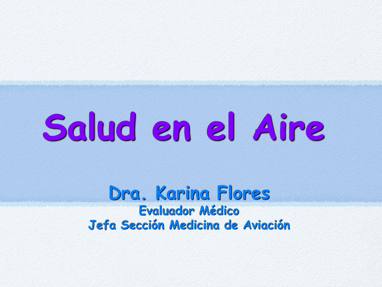 Jefa Sección Medicina de Aviación
