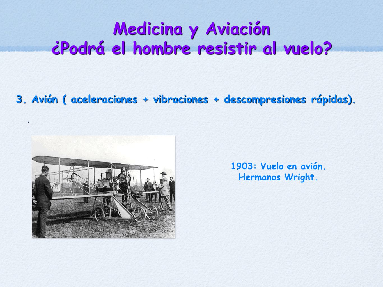 Medicina y Aviación ¿Podrá el hombre resistir al vuelo