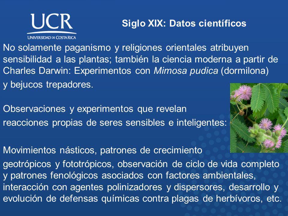 Siglo XIX: Datos científicos