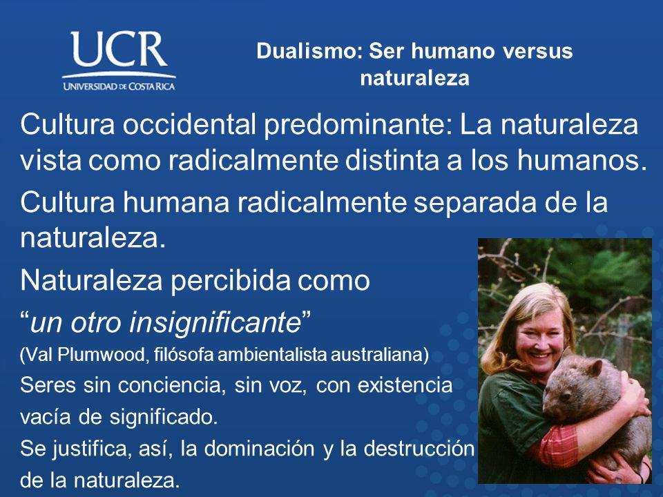 Dualismo: Ser humano versus naturaleza