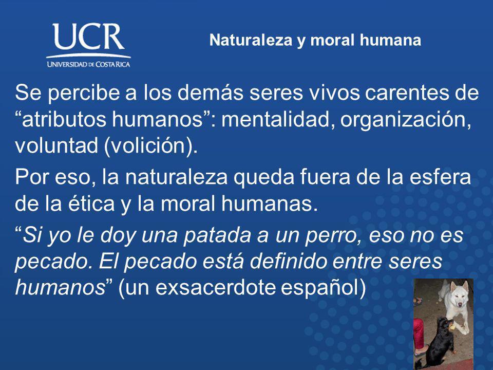 Naturaleza y moral humana