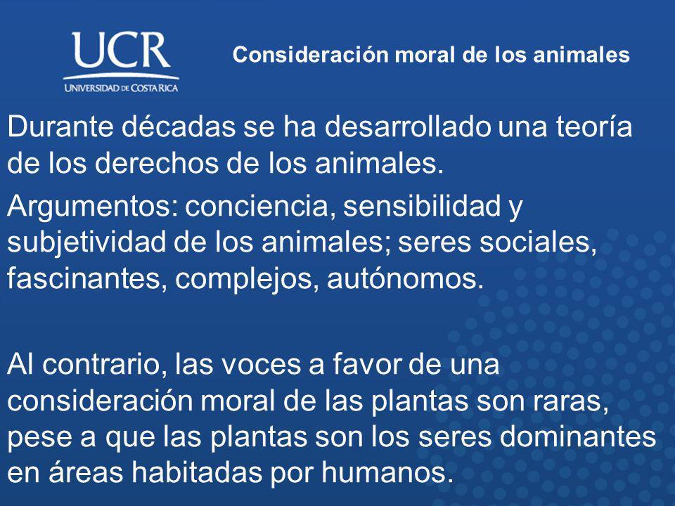 Consideración moral de los animales