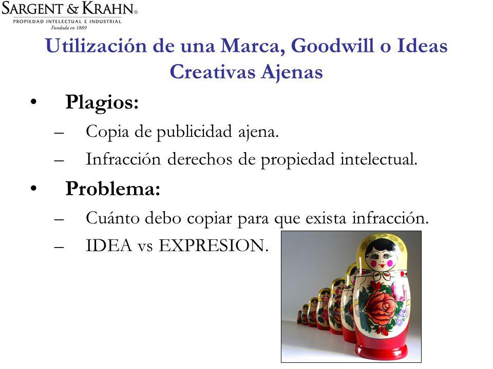 Utilización de una Marca, Goodwill o Ideas Creativas Ajenas