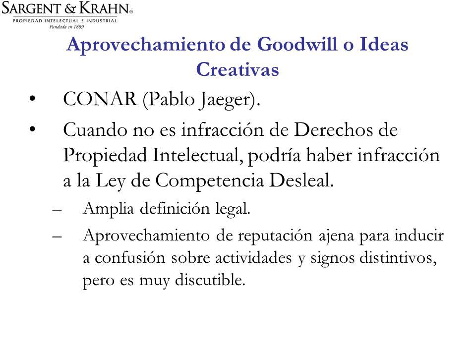 Aprovechamiento de Goodwill o Ideas Creativas