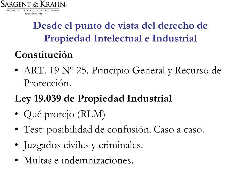 Desde el punto de vista del derecho de Propiedad Intelectual e Industrial