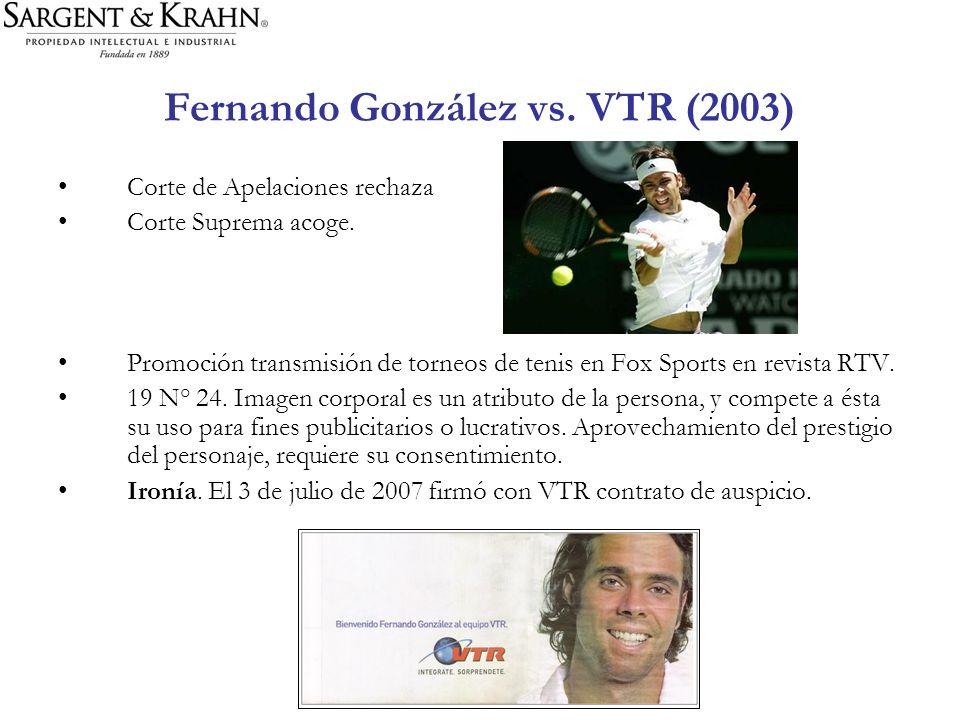 Fernando González vs. VTR (2003)