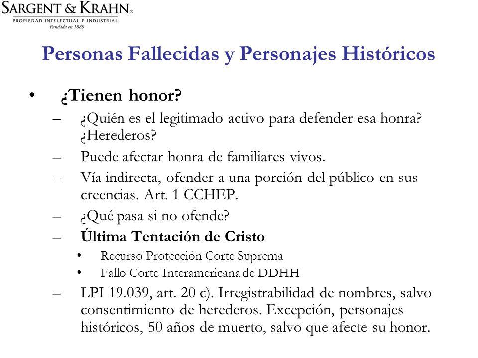 Personas Fallecidas y Personajes Históricos