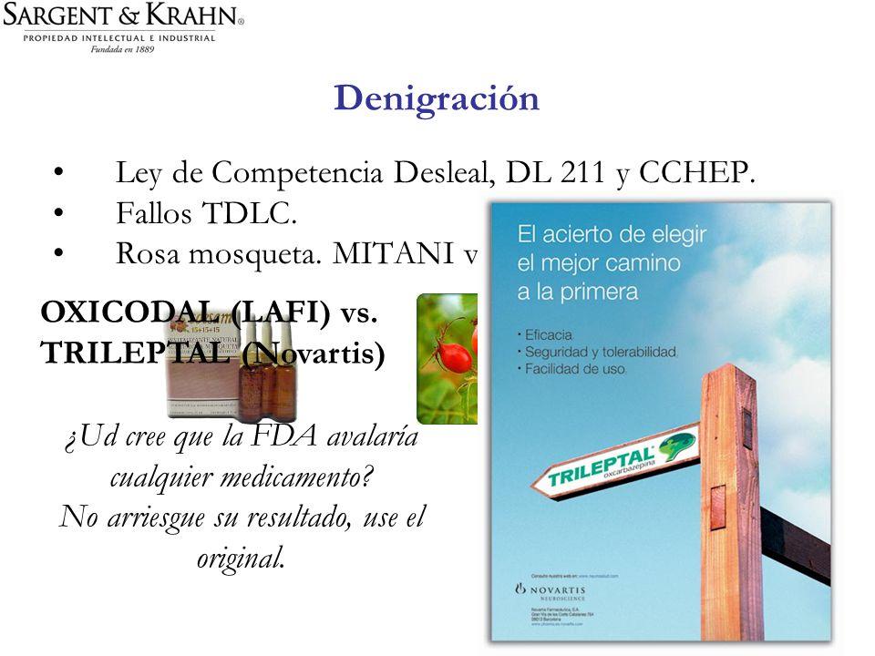 Denigración Ley de Competencia Desleal, DL 211 y CCHEP. Fallos TDLC.