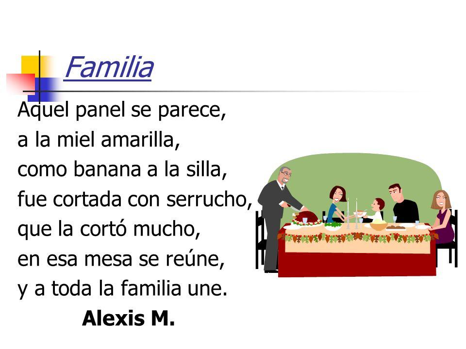 Familia Aquel panel se parece, a la miel amarilla,