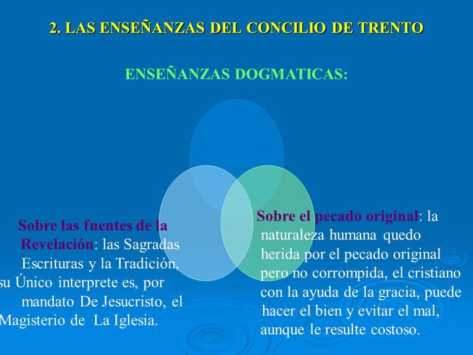 2. LAS ENSEÑANZAS DEL CONCILIO DE TRENTO
