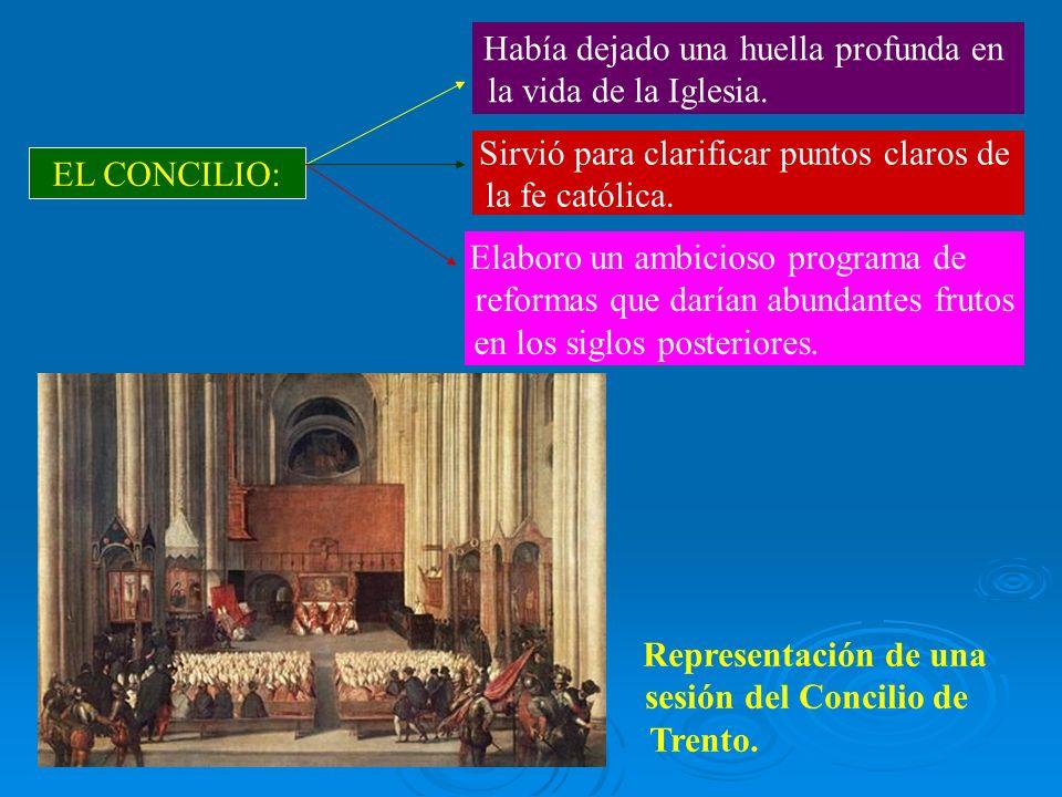 Representación de una sesión del Concilio de