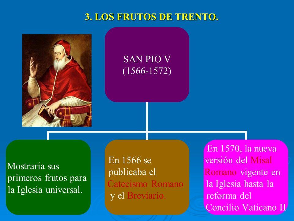 3. LOS FRUTOS DE TRENTO.