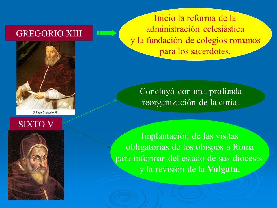 administración eclesiástica y la fundación de colegios romanos