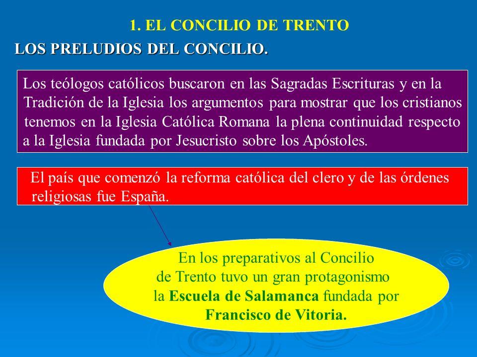 1. EL CONCILIO DE TRENTO Francisco de Vitoria.