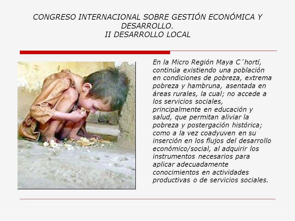 CONGRESO INTERNACIONAL SOBRE GESTIÓN ECONÓMICA Y DESARROLLO