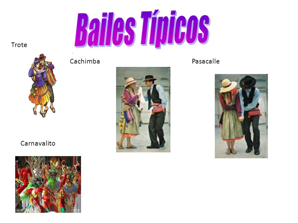 Bailes Típicos Trote Cachimba Pasacalle Carnavalito
