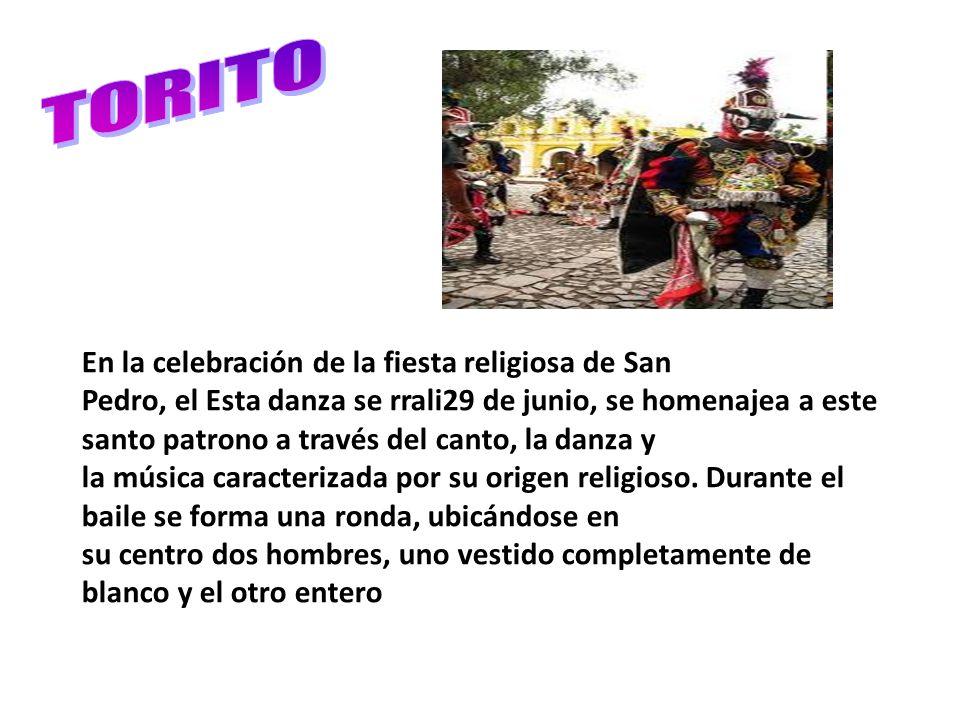 TORITO En la celebración de la fiesta religiosa de San