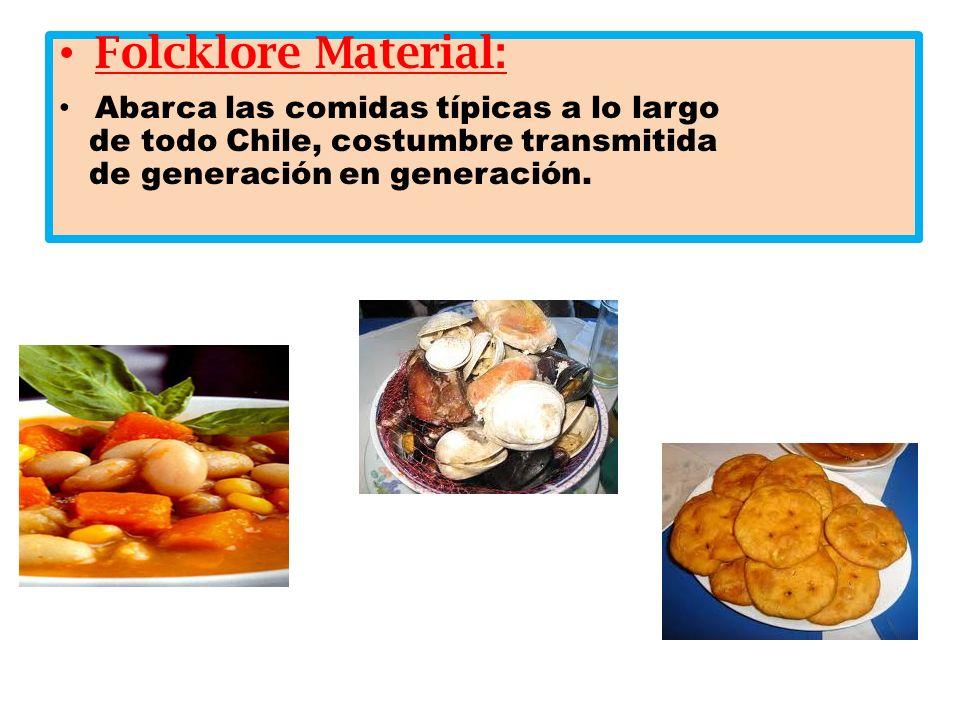 Folcklore Material: Abarca las comidas típicas a lo largo