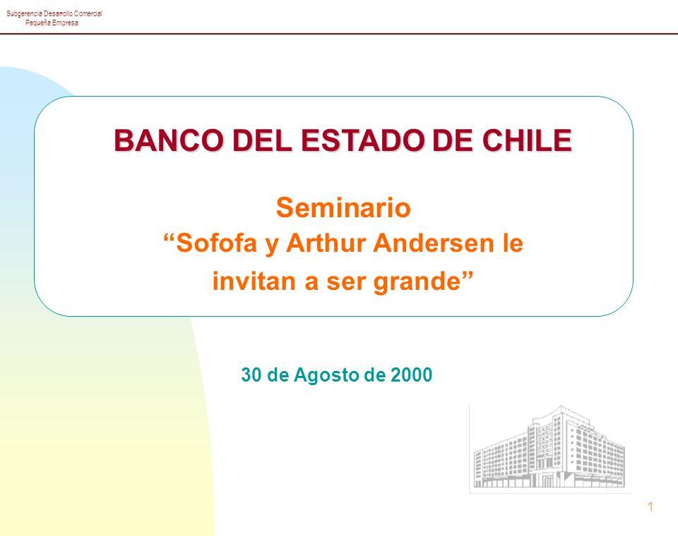 BANCO DEL ESTADO DE CHILE Sofofa y Arthur Andersen le
