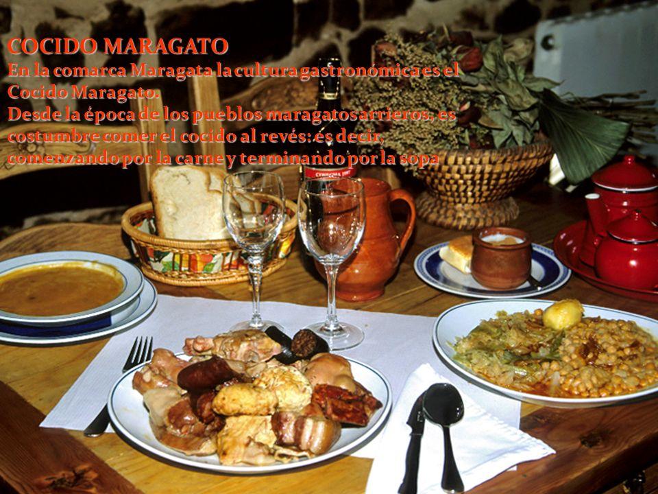 COCIDO MARAGATO En la comarca Maragata la cultura gastronómica es el Cocido Maragato.