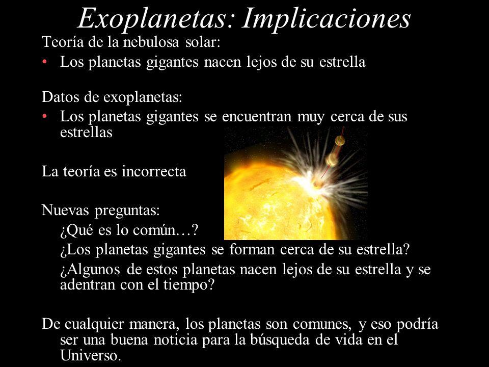 Exoplanetas: Implicaciones