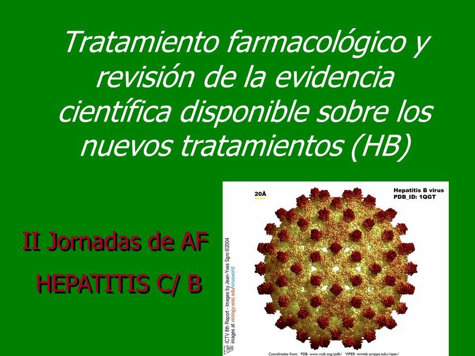Tratamiento farmacológico y revisión de la evidencia científica disponible sobre los nuevos tratamientos (HB)