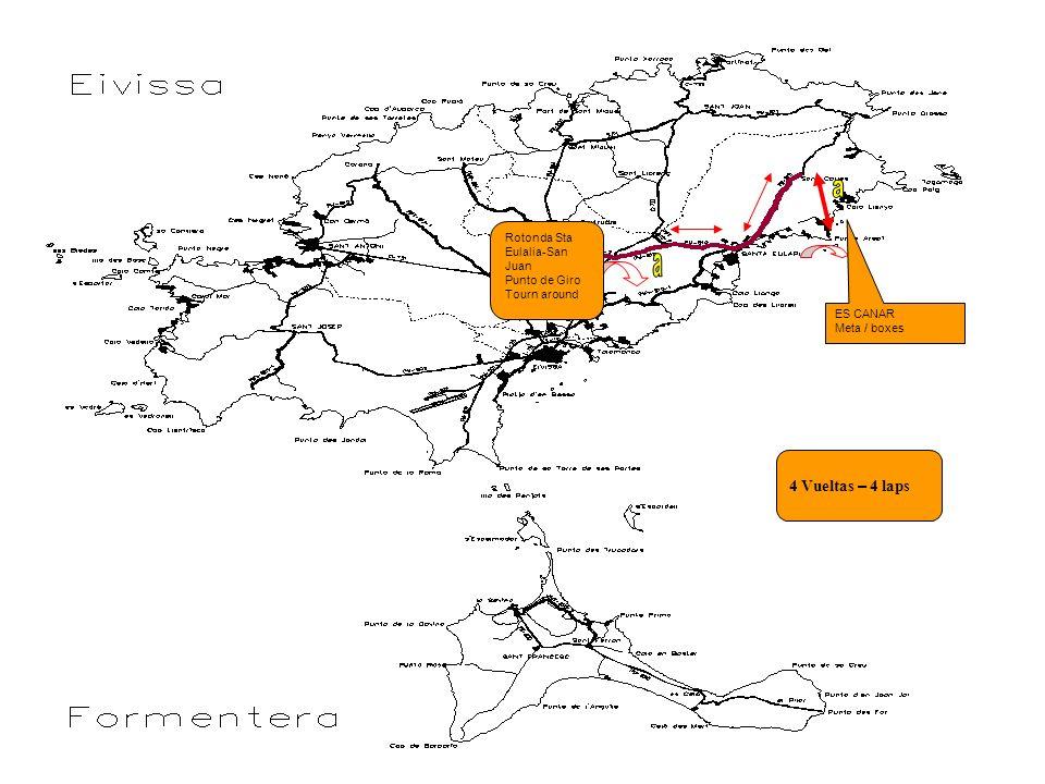a a 4 Vueltas – 4 laps Rotonda Sta Eulalia-San Juan Punto de Giro