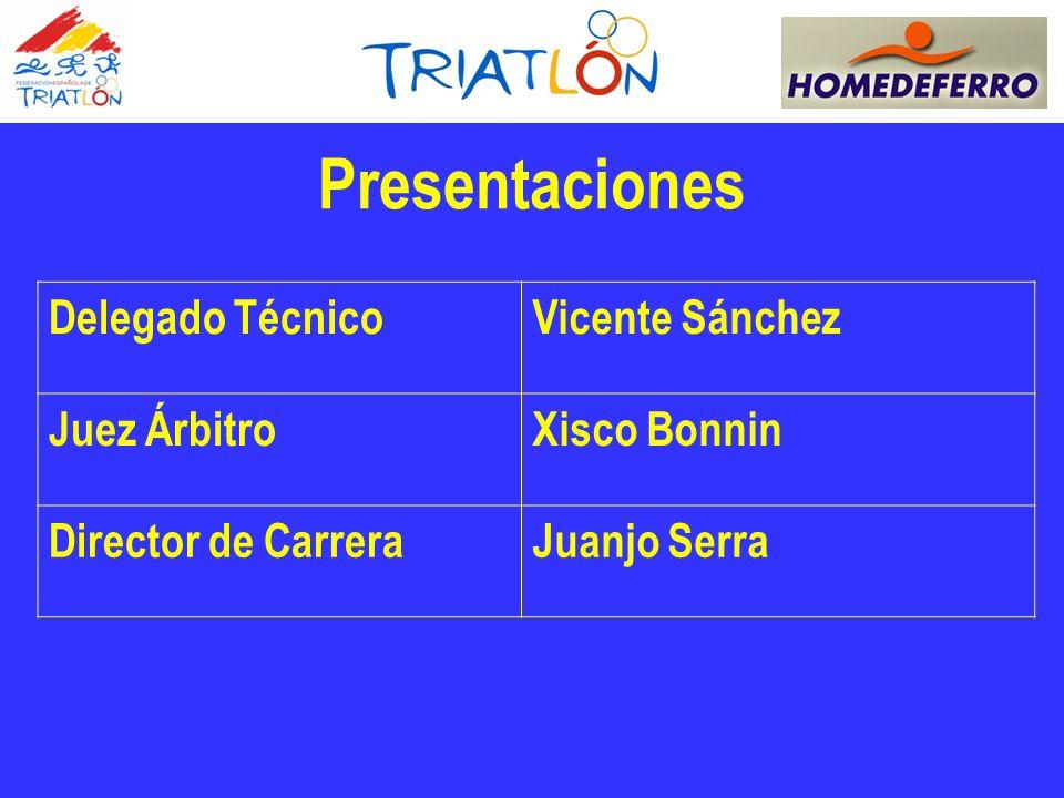 Presentaciones Delegado Técnico Vicente Sánchez Juez Árbitro