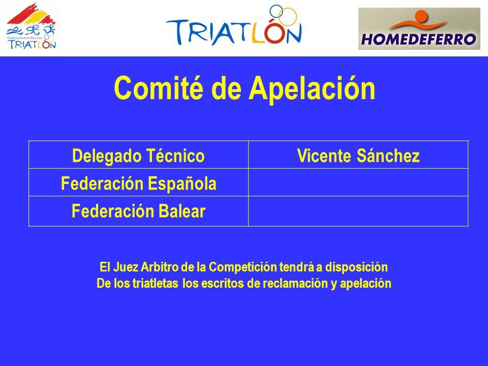 Comité de Apelación Delegado Técnico Vicente Sánchez