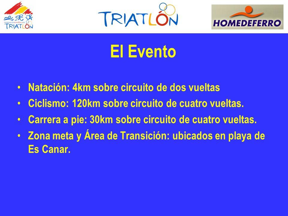 El Evento Natación: 4km sobre circuito de dos vueltas