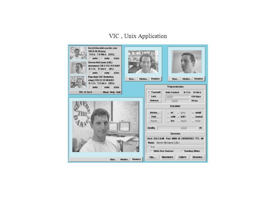 VIC , Unix Application