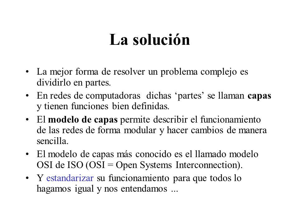 La solución La mejor forma de resolver un problema complejo es dividirlo en partes.