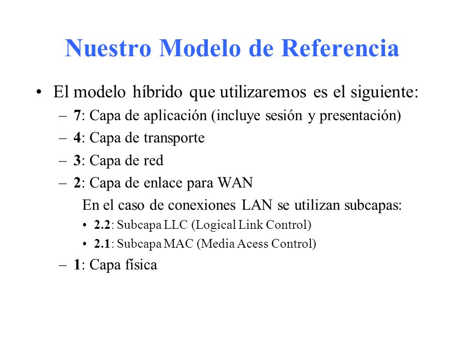 Nuestro Modelo de Referencia