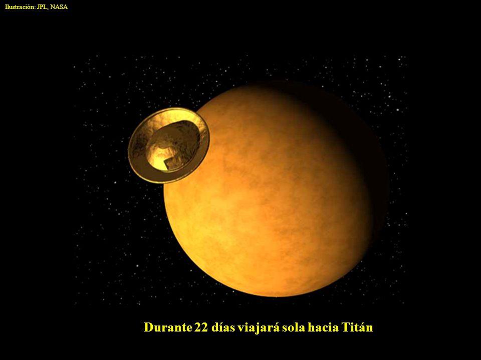Durante 22 días viajará sola hacia Titán