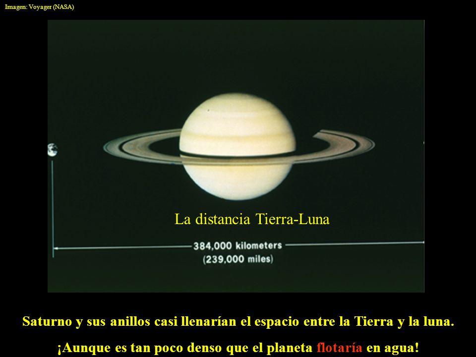 ¡Aunque es tan poco denso que el planeta flotaría en agua!