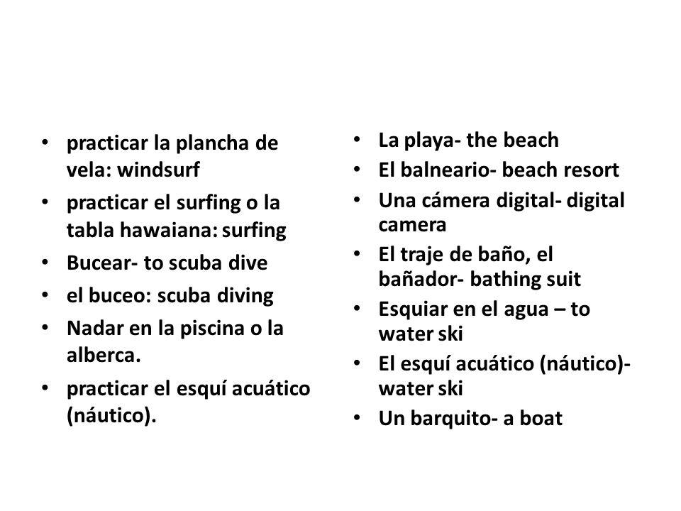 practicar la plancha de vela: windsurf