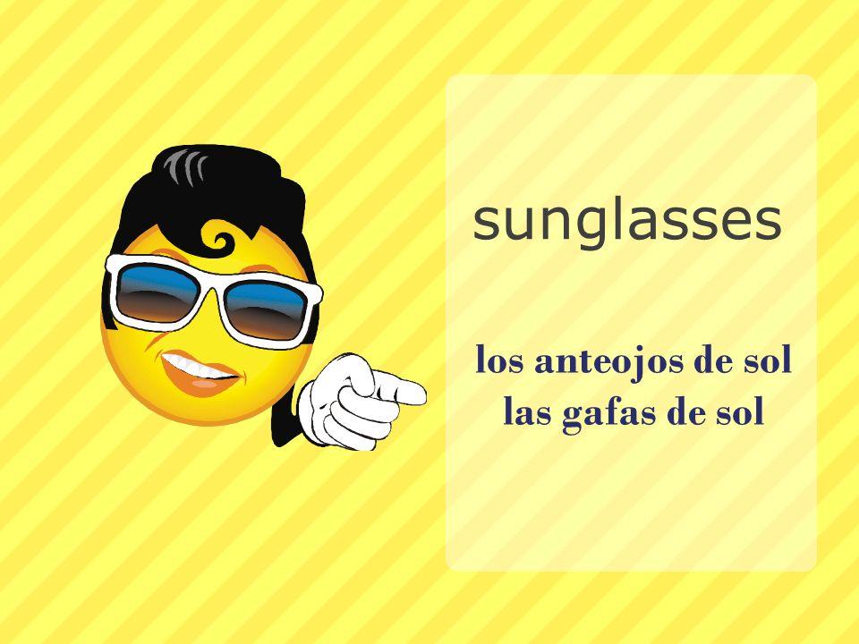 los anteojos de sol las gafas de sol
