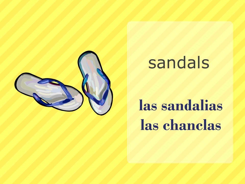las sandalias las chanclas