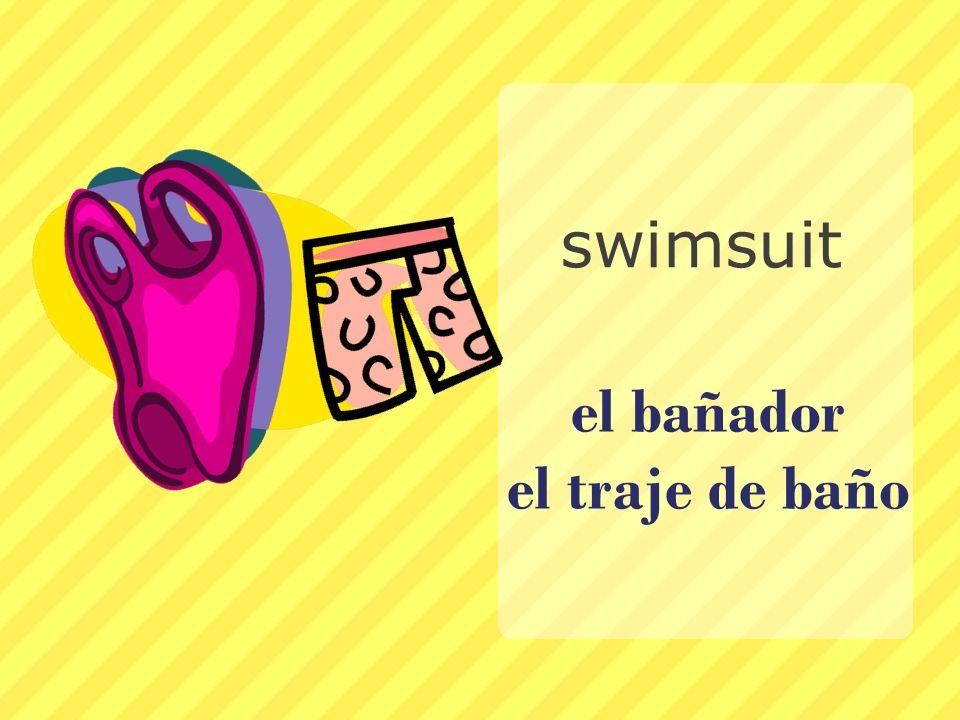 el bañador el traje de baño
