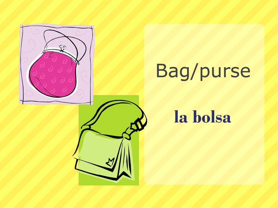 Bag/purse la bolsa