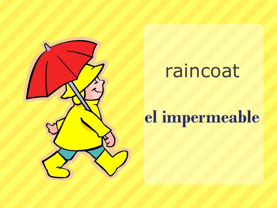 raincoat el impermeable
