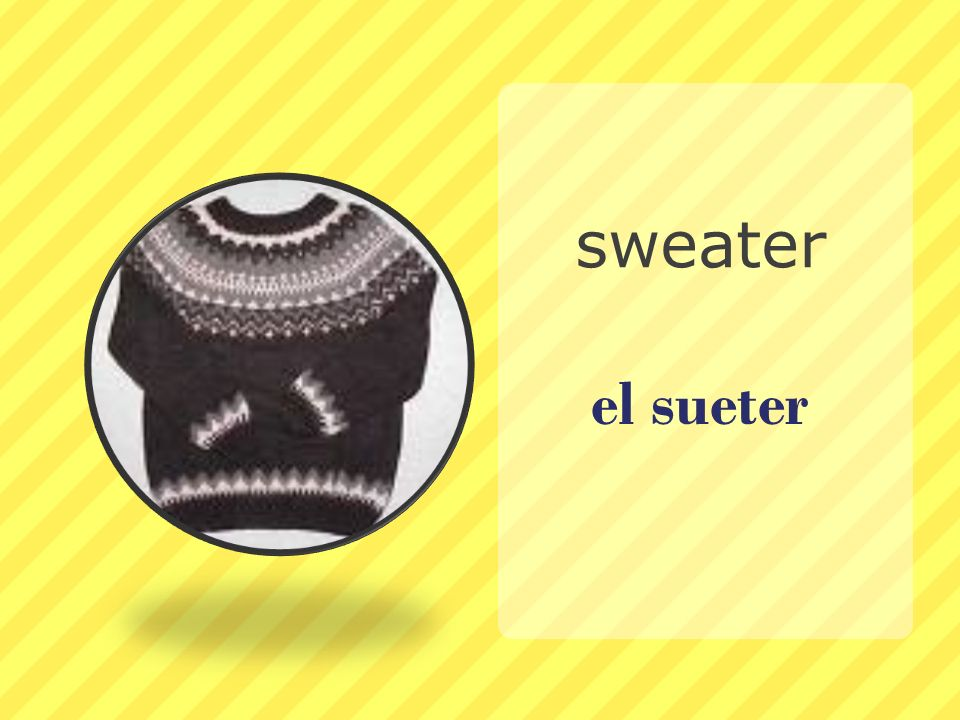 sweater el sueter